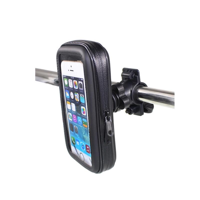 Fimilef Motorcycle Bike Ride Phone Waterproof Bag Case Adjustable Holder Handlebar Mount Dustproof Bag Navigation Phone Stand (12)