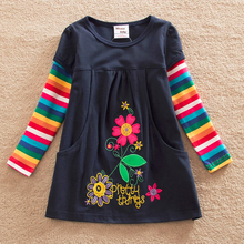 Girl dresses children princess clothing Cartoon long sleeve Kids Clothes for 2017 Baby Toddler