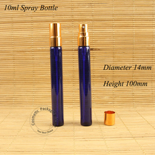 50Pcs/Lot Promotion 10ml Glass Perfume Bottle 1/3 OZ Women Cosmetic Spray Container Small Refillable  Aluminum Cap Packaging