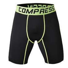 Mens black tight Compression Shorts Short Camouflage Homme 3 colors(China)