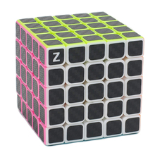 Brand New Zcube Black Carbon Fiber Sticker 5x5 62mm Speed Magic Cube Puzzle Game Cubes Gift Educational Toys for Children Kids(China)