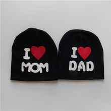 8e279af68f0 Baby Hat Newborn Photography Props Infant Cotton Knitted Baby Boys Girls Hat  I Love Mam Dad Baby Gorro Beanie Autumn Winter Caps