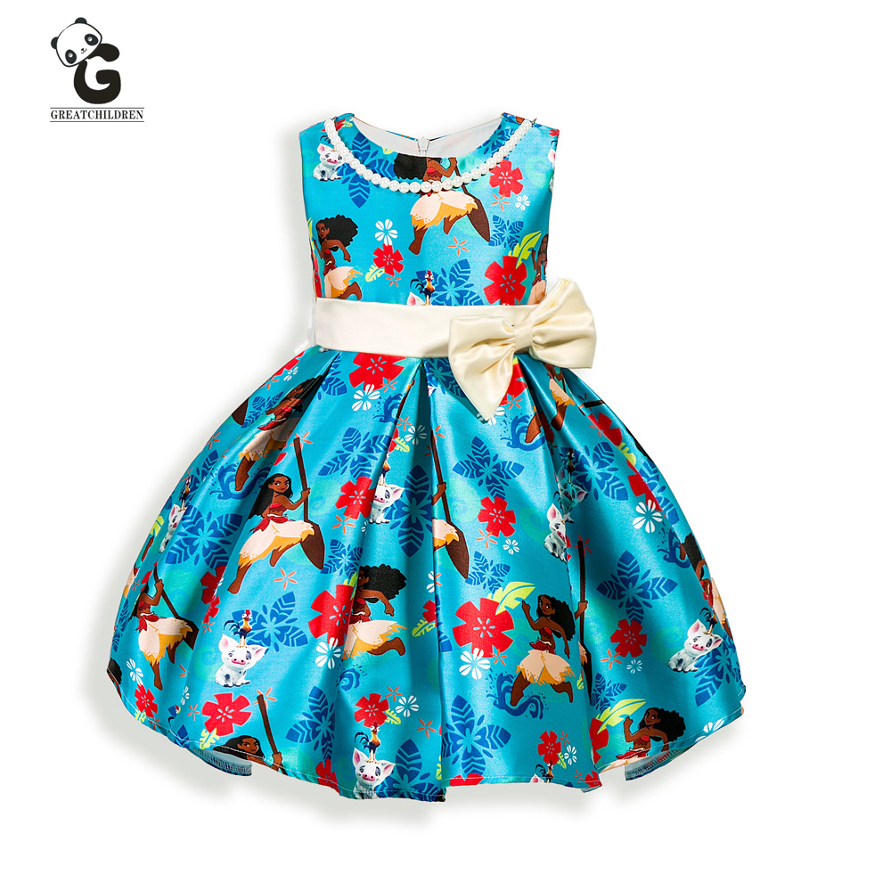 Fashion Girls Dresses 2017 Summer Sleeveless Casual Dress For Girls Clothes Cartoon Children Clothing Kids Dresses Lace Clothes<br><br>Aliexpress
