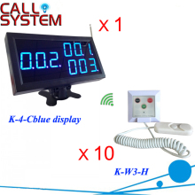 LED Display Wireless Nurse Call Emergency Service Paging System 1 Monitor 10 Transmitters with hand shake