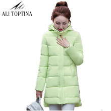 ALI TOPTINA New Winter Jacket Women Cotton Parkas M-2XL Lady Hooded Coats Jaqueta Feminina Retail Cheap Outerwear MF45(China)