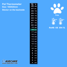 Hot Sales Pet Thermometer for Dogs, Cats, Birds, Reptiles and Amphibians, 4-28 degree, 1,000pcs/lot, Free Shipping by DHL(China)