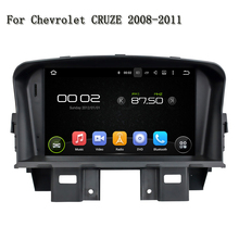 4 Core Android 5.1.1 PC Car DVD Player GPS Navigation Head Multimedia For Chevrolet CRUZE 2008-2011 Support Can Bus Mirror Link