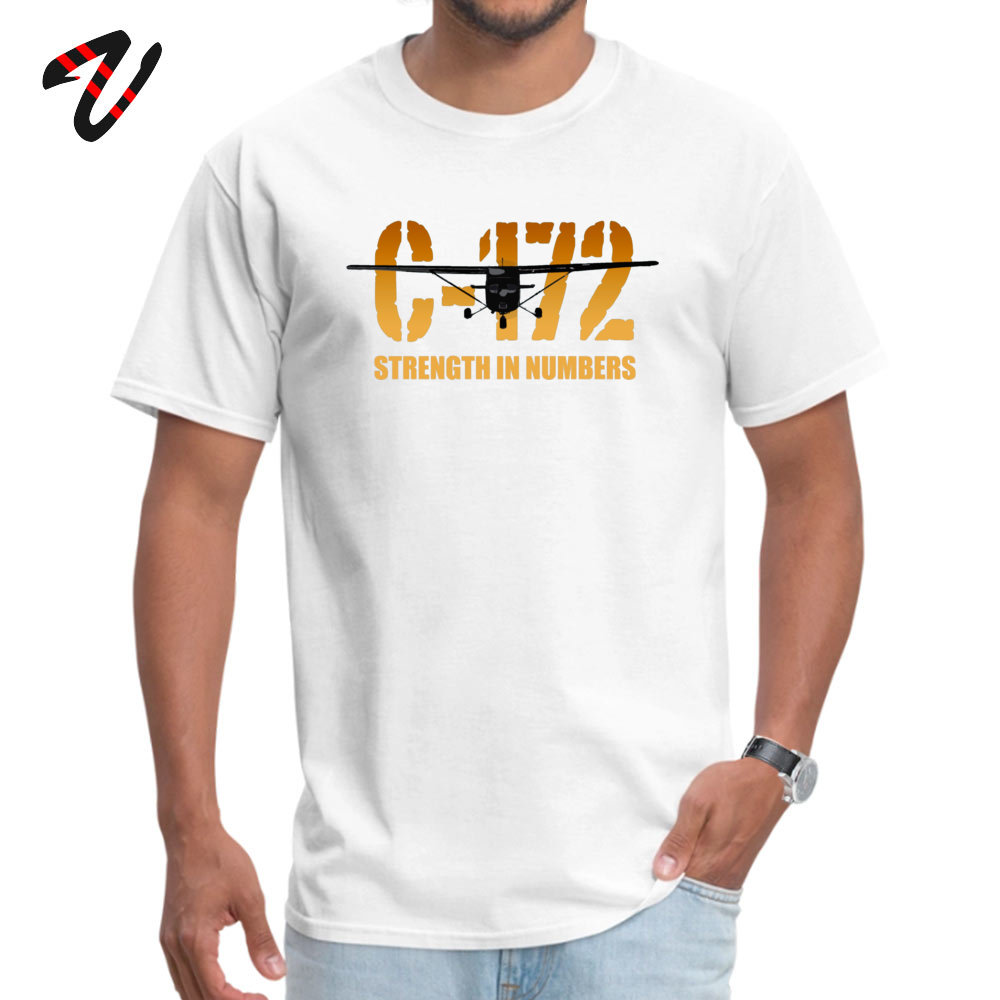 cosie Young Special Casual Tees O-Neck Summer Fall 100% Cotton Fabric T Shirt Summer Short Sleeve Tshirts Drop Shipping Cessna C-172 Strength in Numbers -670 white