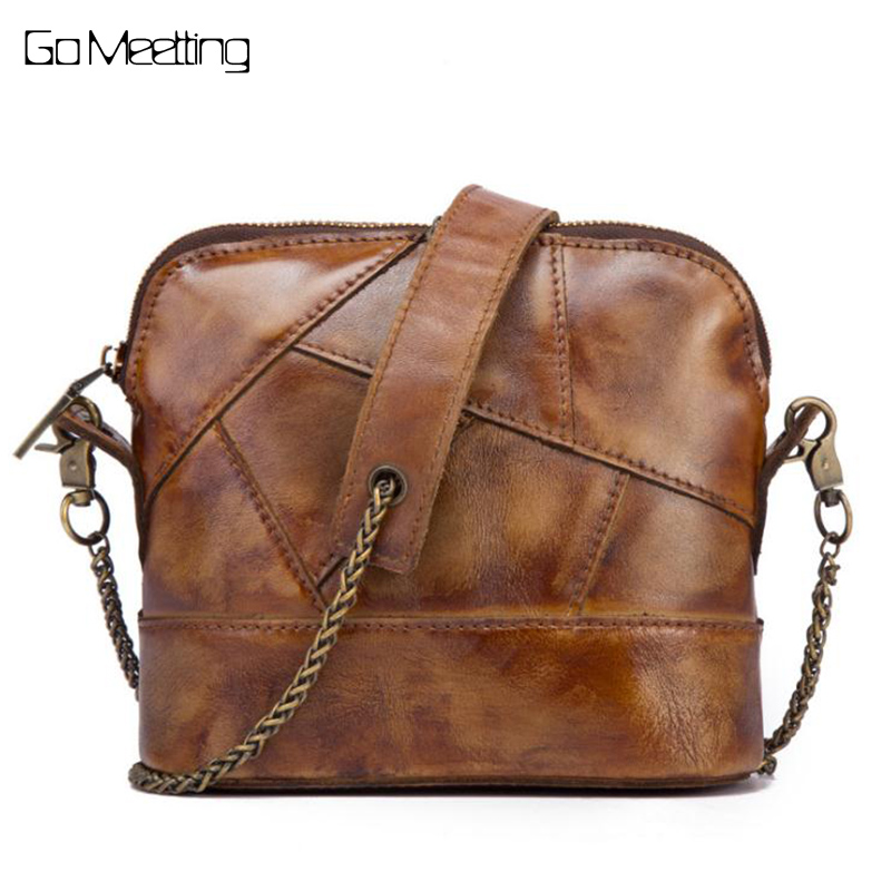 Vintage Genuine Leather Women Shoulder Bags Real Cow Leather Female High Quality Crossbody Messenger Bags Casual Small Bag <br>