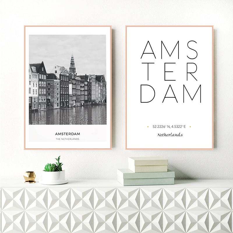 Milan Italy Coordinates Black /& White World City Travel Quote Poster Print