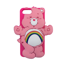 2017 Fashion 3D cartoon animals cute sweet candy color rainbow bear soft silicone case For Iphone6 6s/6plus 6splus/7/7plus/8plus(China)