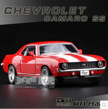 1969 Chevrolet Camaro SS Original alloy car models 1:36 pull back kids toy Christmas gift boy diecast Hot sale free shipping