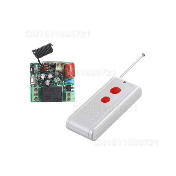 Remote Control Switch Relay AC 220V 1CH 10A 200-500m Receiver Transmitter LED Lamp Light Remote ON OFF Wireless Switch 315/433<br><br>Aliexpress