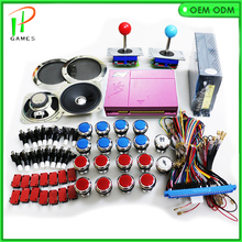 HDMI BOX 4S 800 in 1 game DIY jamma arcade cabinet machine kit for multigames PCB board joystick 12V led button power 28P wires(China)