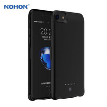 NEW NOHON Portable Backup Battery Charger Case For iPhone 7 6S 6 Plus External Rechargeable Case Cover 8000mAh Fast Charging