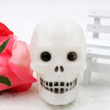2016 Hot Sale Multicolor Flash LED Skull Night Light Lamp Halloween Party Decoration Wholesale