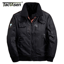 TACVASEN Men Bomber Jacket Thick Winter Parkas Army Military Motorcycle Jackets Men's Pilot Coat Flight Jacket Coat TD-DSPD-001(China)