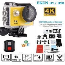 Original EKEN H9 / H9R Action camera remote Ultra HD 4K WiFi 1080P/60fps 2.0 LCD 170D Helmet Cam go 30M waterproof pro camera
