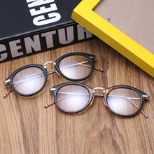 The new trend of fashion round box flat mirror classic retro Korean popular men and women general glasses decorative mirror 8096