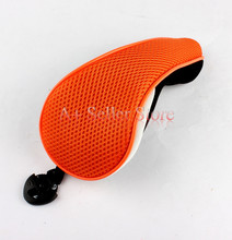 Free Shipping Black&Orange Mesh Material UT Golf Headcover for Hybrid Golf Club Head Covers(China)