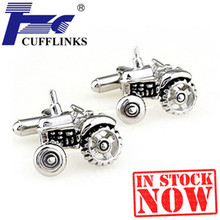 Black Tractor Cufflink Cuff Link 2 Pairs Free Shipping Promotion(China)