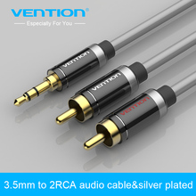 Vention HIFI 3.5mm Jack to 2 RCA Audio Cable Gold-plated 2 RCA Jack Plug Stereo Aux Cable for Home Theater DVD VCD Headphones(China)