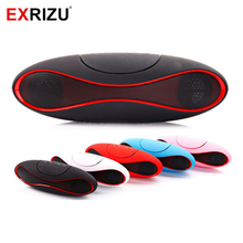 EXRIZU Rugby Ball Portable Bluetooth Speaker Subwoofer HIFI Music Audio Soundbar Handsfree Microphone TF/AUX/USB for Phone Car