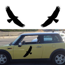 2pcs/set Tribal Eagle Bird Hawk Car Sticker Truck door Vinyl Decal Removable DIY Home Decor Glass Mural Wall Decals D913