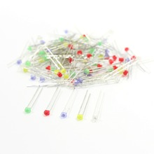 100PCS 1.8mm Mixed color LEDs & Free Resistors LED1.8 White Red Blue Green and Yellow led model train ho scale railway modeling(China)