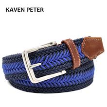Men Braided Belt Casual Style Fish Bone Pattern Men's Golf Braided Belts With Wax Rope Material Mixed Color From 100 cm to160cm(China)