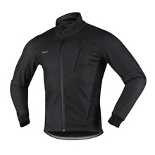 Arsuxeo Men's Cycling Jacket Winter Thermal Warm Fleece MTB Bike Bicycle Clothing Sportswear Windproof Coat - 2017 New Arrival(China)