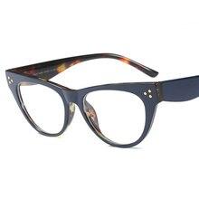 SHELI Retro Leopardo Miopia Quadros Mulheres Decoração de Unhas Senhoras  Gato Olho Óculos Armação Unisex Óculos 38a6c54c7e
