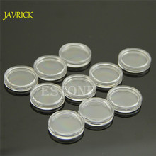 10 PCS Plastic Jewelry Box Applied Clear Round Cases Coin Storage Capsules Holder Round Durable coin capsules 19mm(China)