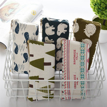 Best Deal Animal Wash Organizer My Pencil Case Classical Black And White Color Waterproof Canvas Storage Cosmetic Bag(China)