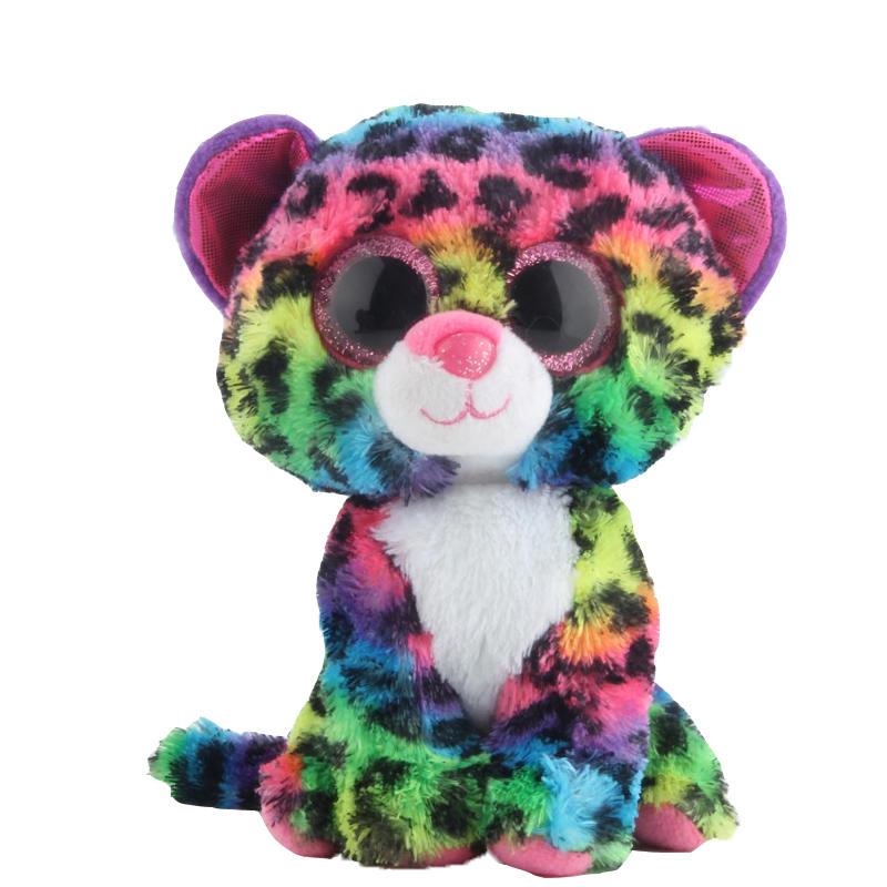 GXHMY-Ty-Beanie-Boos-Colorful-Leopard-Plush-Toy-Doll-Stuffed-Animals-Plush