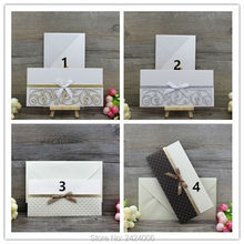 1 pcs Classical Pocket Style Special Greeting Cards (with Ribbon) Sample for Selection