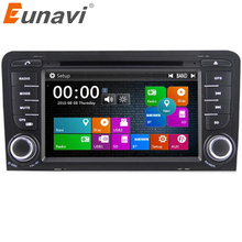 Eunavi 2 Din Car DVD Player For AUDI A3 S3 RS3 With 3G USB GPS BT IPOD FM RDS Subwoofer GPS Navigation Free Maps(China)