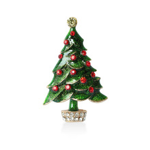 Christmas Tree Gold-C Brooch Rhinestone Brooches For Female Pins Lapel Pin Women Wedding Scarf Clip Collar Tips Hijab Pin
