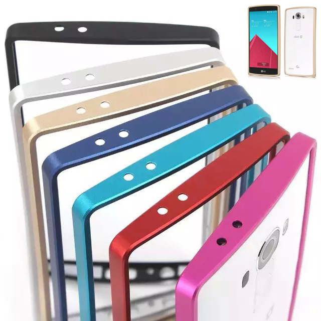 Luxury New Dual Aluminium Metal Bumper Cover Anti Knock Frame Case LG G4 Ultra Thin Slim frame lg g4 phone cases