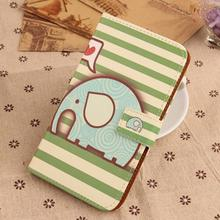 Exyuan Lovely Pattern Cell Phone Protection Cover Flip PU Leather Case For Amigoo H2000 4.5''