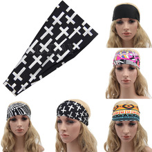 Chic Print Sport Headband Women Girls Motorcycle Cool Headband Headwear Fashion Hair Accessories(China)