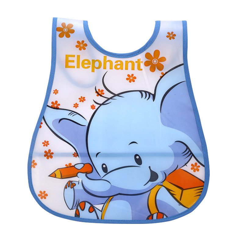 New Baby Bibs Newborn Cartoon Feeding Cloth EVA Plastic Waterproof Lunch Feeding Bibs Children Adjustable Feeding Accessories(China)