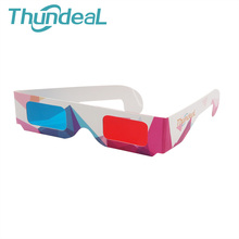 ThundeaL 10Pcs 30Pcs 100Pcs Red Blue 3D Glasses Wholesale for Game DVD Movie Cinema Anaglyph Framed Red Blue 3D Glasses Stereo