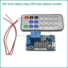 Infrared remote control 12V timer delay relay LED tube display module for Arduino