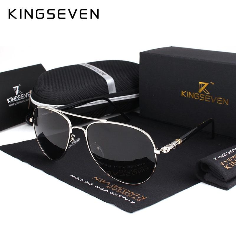 Hot! With 6 Accessories Kingseven Brand Designer Aviator Polarized Sunglasses Men Driving Sport Sun Glasses Women Oculos<br><br>Aliexpress