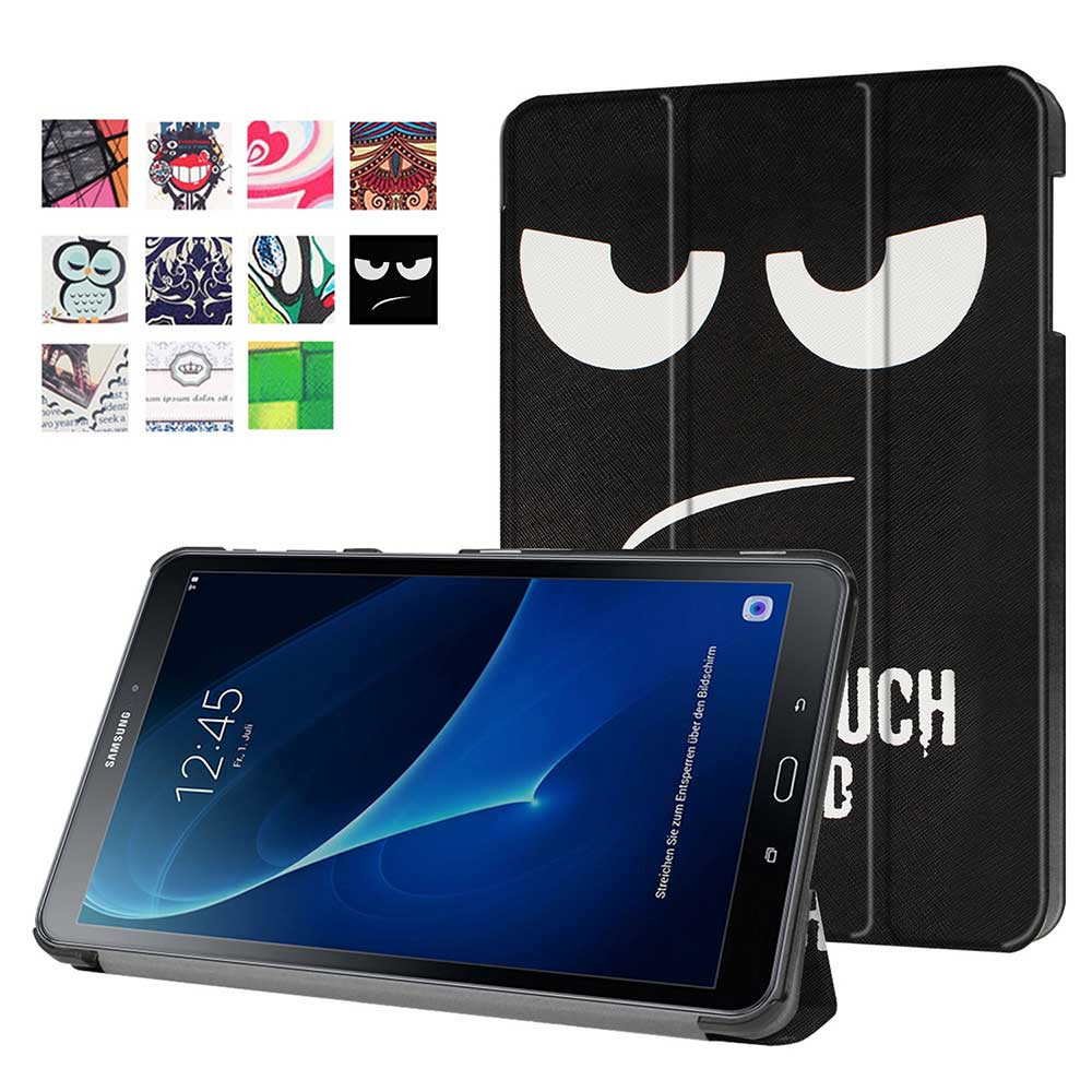 Leather Case For Samsung Galaxy Tab A6 10.1 2016 SM-T580 SM-T585 for Samsung Galaxy Tab A 10.1 3 Fold PU Smart cover