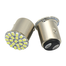 2pcs 1157 22SMD Car LED Lamp P21W BAY15D 12V Auto Brake Bulb Turn Lights Parrking Lamp Bulb DC12V White Yellow Car styling(China)