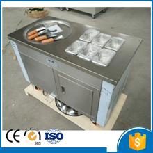 Shipping by sea CFR wholesale price fry ice cream roll single round pan roller machine with foot defrost