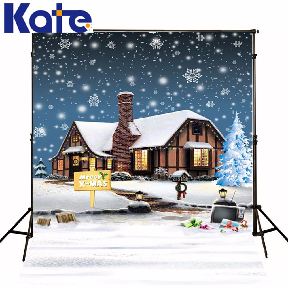 Kate Christmas Backdrop Photography Frozen Snow House For Children Winter Backgrounds For Photo Studio<br>