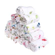 5pc/Set 6 Layers Baby Wipe Towel Soft Infant Girls Boys Feeding Handkerchief Wash Cloth JNA17(China)